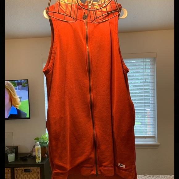 NIKE Modern Long Hooded Vest Dress Tunic